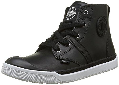 Palladium Damen Palaru Hi Lea F Sneaker Noir (115 Black/White)