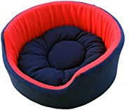 Fluffy's Luxurious Both Side Soft Dog/Cat Bed, Red/Blue