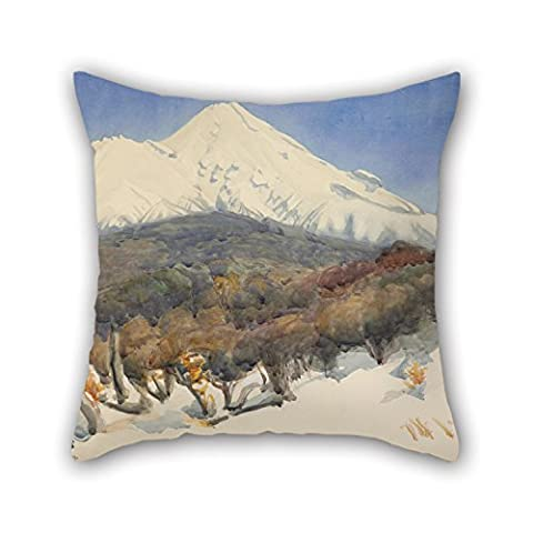 Uloveme Oil Painting D. K. Richmond - Mount Egmont Pillow Cases ,best For Floor,teens Girls,her,wife,wedding,home Office 18 X 18 Inches / 45 By 45 Cm(each Side)