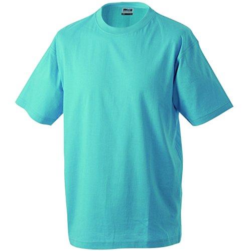 JAMES & NICHOLSON Komfort-T-Shirt aus strapazierfähigem Single-Jersey Turquoise