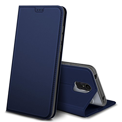 iBetter Alcatel 3C Hülle, Premium Tasche Cover Flip Case [Magnetic Closure] [Standfunktion] Schutzhülle Handyhüllen für Alcatel 3C Smartphone (Blau)