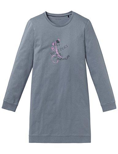 Schiesser Mädchen Nachthemd Sleepshirt 1/1, Grau (Graublau 209), 152 (Herstellergröße: S)