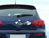 Autoaufkleber Opa 2017 B x H: 30cm x 11cm Farbe: silber von Klebefieber®
