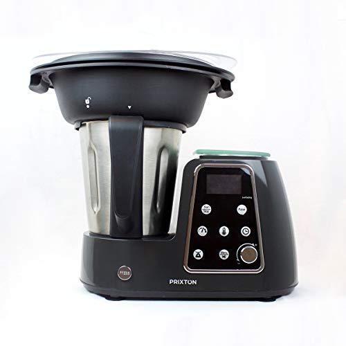 PRIXTON Multifunktions-Küchenmaschine, programmierbar, Mixen, Zerkleinern, Dampfgaren, Garen, Frittieren/inkl. Waage, Rezept und Zubehör, Edelstahl | Kitchen Gourmet KG200 Lcd-intel Core