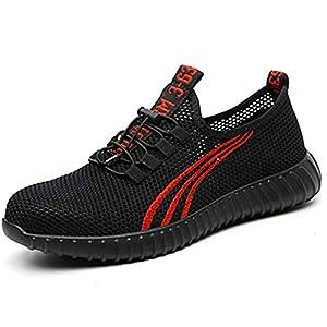 411aIr7viXL. SS300  - Zapatos de Seguridad para Hombre Mujer Comodos Ligeros Calzado de Trabajo con Punta de Acero Zapatos de Deportivos