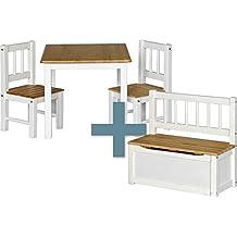 Suchergebnis Auf Amazon De Fur Kindertisch Mit Zwei Stuhlen Und Bank