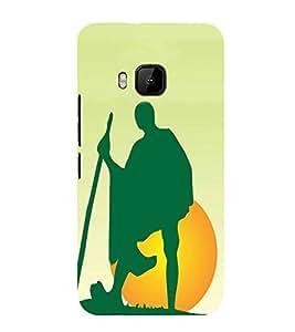 Fuson Designer Back Case Cover for HTC One M9 :: HTC One M9S :: HTC M9 (Gandhi mahathma bapu gandhiji freedom fighter )