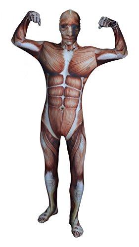 Imagen de original funsuit  disfraz de segunda piel pegado al cuerpo músculos carnaval halloween  talla s / m / l / xl / xxl [m]  varios diseños alternativa