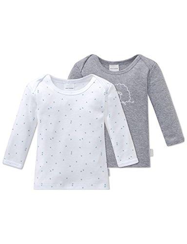 Schiesser 2pack Baby Shirts 1/1 Haut de Pyjama, Multicolore (Sortiert 1 901), 12 Mois (Lot de 2 Bébé garçon