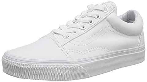 Vans Old Skool, Unisex-Erwachsene Sneakers, Weiß (True White), 44,5 EU