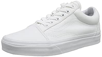 Vans Old Skool Scarpe Da Ginnastica Basse, Unisex Adulto, Bianco (True White), 34.5 EU