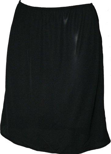 Ex Store Damen Slip, resistent gegen statische Aufladung, mit Split Schwarz - Schwarz