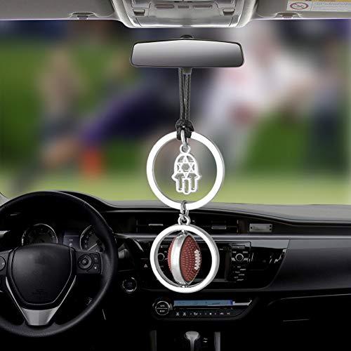 DBDCH Auto Anhänger Glamour Rugby hängen Rückspiegel Dekoration Automotive Interieur Zubehör Geschenke,Rugby