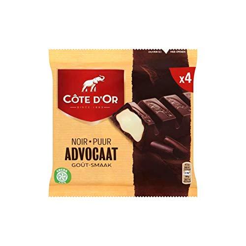 Belgischer Eierlikör-Schokoladen-Schokoriegel | Côte d'Or | Dunkler 'Lawyer'-Eierlikör-Geschmack 4 x 47,5 g | Gesamtgewicht 190 Gramm