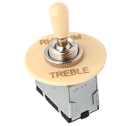 yibuy 3Way Interrupteur à bascule Rhythm Treble Rondelle pour guitare électrique en