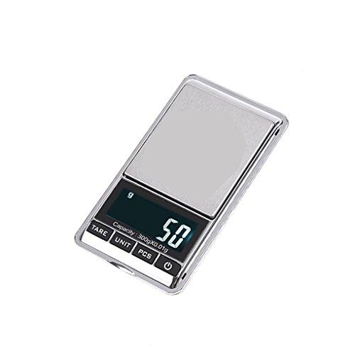 Laileya 300g / 0.01g Taschen-Pr?zisionswaage Skala Min iLCD elektronische Digital-Schmuck Waage (Digitale Skala Für Schmuck)
