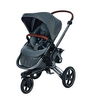 Bébé Confort NOVA 3W 'Sparkling Grey' - Cochecito Todo Terreno, desde el nacimiento hasta los 3,5 años, color gris oscuro.
