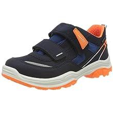 Superfit Boys' Jupiter Low-Top Sneakers, Blue (Blue/Orange 80), 7.5 UK