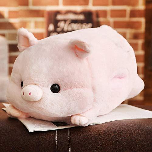 Moonyue 1 stück 50 cm Weiche Kawaii Schwein Plüsch Kissen Gefüllte Niedlichen Tier Kissen Handwärmer Chinese Zodiac Schwein Spielzeug Puppe Geburtstagsgeschenk Kind Kissen Fleisch Farbe