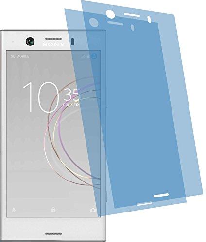 4ProTec 2X ANTIREFLEX matt Schutzfolie für Sony Xperia XZ1 Compact Displayschutzfolie Bildschirmschutzfolie Schutzhülle Displayschutz Displayfolie Folie
