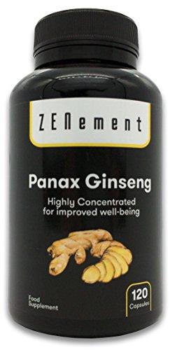 panax ginseng altamente concentrato, 2375 mg, 120 capsule | migliora la concentrazione, la memoria e la resistenza atletica | 100% naturale, vegan, senza additivi, senza glutine, gmp | di zenement