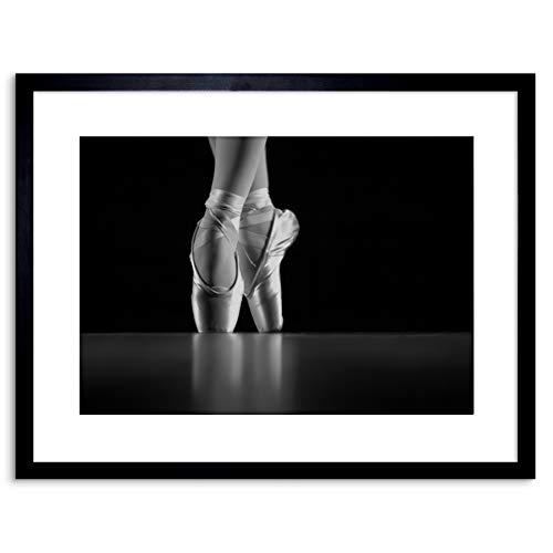 PHOTO DANCING DANCER BALLERINA BALLET SHOES FRAMED ART PRINT POSTER F97X12213 - Über Ballet Shoes