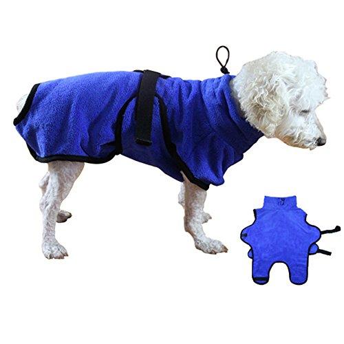 Butterme Haustier Bademantel Hunde-Bademantel Mikrofaser Schnell absorbierende Wasser Bademantel für Hund und Katze