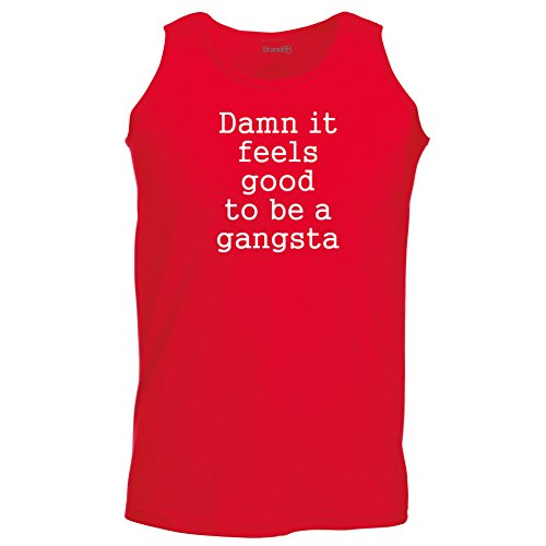 Brand88 - Damn It Feels Good To Be A Gangsta, Unisex Athletic Weste Rot
