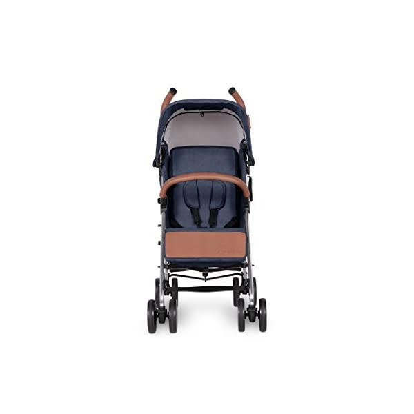 Ickle Bubba Baby Strollers   Lightweight Stroller Pushchair   Compact Fold Technology for Easy Transport and Storage   UPF 50+ Extendable Hood and Rain Cover   Discovery, Denim Blue/Silver Ickle Bubba ONE-HANDED 3 POSITION SEAT RECLINE: Baby stroller suitable from birth to 20kg-approx. 4 years old; features rain cover UPF 50+ RATED ADJUSTABLE HOOD: Includes a peekaboo window to keep an eye on the little one; extendable hood-UPF rated-to protect against the sun's harmful rays and inclement weather LIGHTWEIGHT DESIGN WITH COMPACT FOLD TECHNOLOGY: Easy to transport, aluminum frame is lightweight and portable-weighs only 7kg; folds compact for storage in small places; carry strap and leather shoulder pad included 3