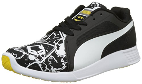 Batman Herren Schuhe (Puma Unisex-Kinder Batman ST Trainer Evo Street Jr Low-Top, Schwarz (Black White 01), 39)
