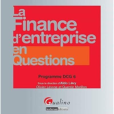DCG 6 - La finance d'entreprise en questions