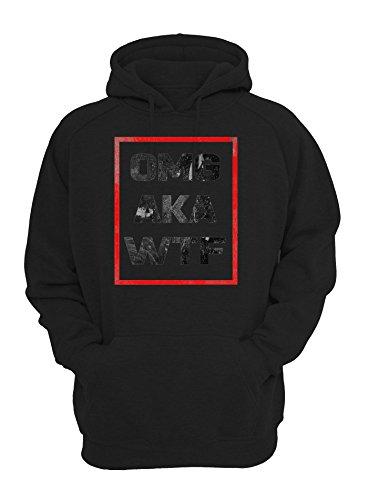 OMG AKA WTF Logo Graphic Design Unisex Pullover Hoodie XX-Large (Aka Sweatshirt)