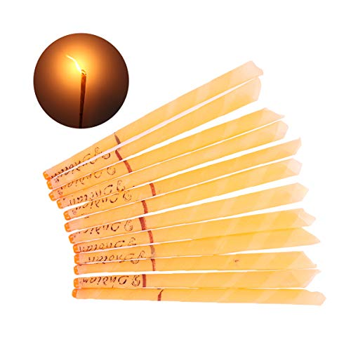 Chinesische Kerze (RichDeer 12Pcs Natürliche Ohr Kerzen Ohr Wachs Kerzenentfernung Kit Bienenwachs Kandisierende Kegel)