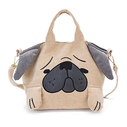 Schöne Cartoon Hund Form Cord Frauen Umhängetasche Kleine Umhängetasche Umhängetasche Umhängetasche Mode Große Kapazität Handtasche - Electric Razor Body