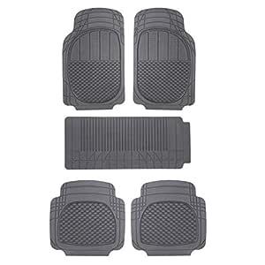 Sepia Universal Car Foot Mat (Set of 5, Black)