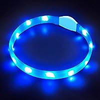 LaRoo LED Collar para Perros, LED Collar de Seguridad para Perros Mascotas de LED de Nylon Luminous Que Brillante Collar para Todos los Perros, Gatos y Mascotas