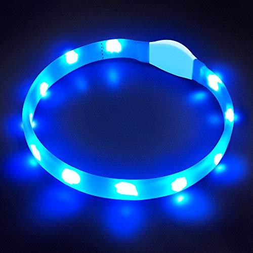 LaRoo Collier de Chien à LED Clignotant sécurité Chien Collier pour Chien et Chat
