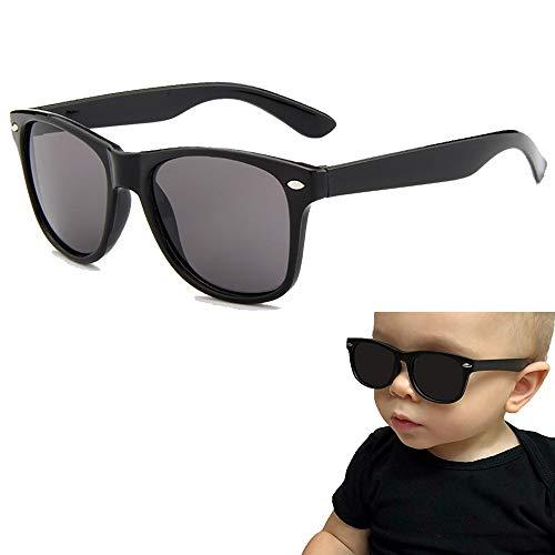 OMZGXGOD Kinder klassische Sonnenbrille, Kinder polarisierte Sonnenbrille Shades Brille für Jungen, Mädchen, Baby und Kinder, schützen vor UVA UVB