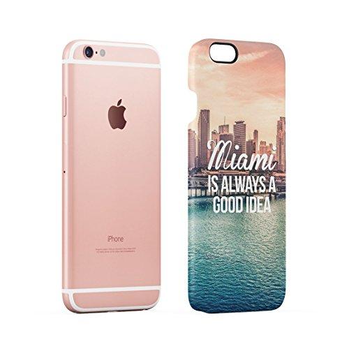 Miami Is Always A Good Idea Urlaubs Plan Chilling Under Miami Sonne Dünne Rückschale aus Hartplastik für iPhone 5C Handy Hülle Schutzhülle Slim Fit Case cover Good Idea