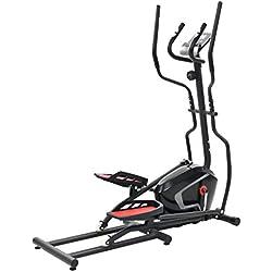 ghuanton Máquina elíptica XL Masa de rotación Pulso 18 kg Deportes Fitness y musculación Cardio Máquinas de Cardio Bicicletas elípticas