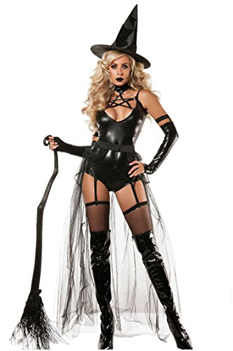 Shangrui Weibchen Cosplay Kostüm Serie Hexe Bodysuit Kostüm Mit Hut