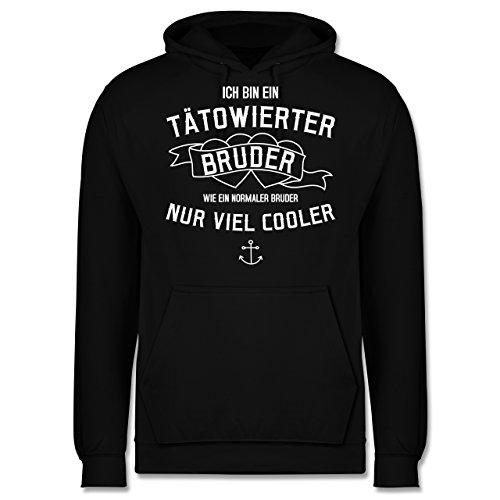 Bruder & Onkel - Ich bin ein tätowierter Bruder - Herren Hoodie Schwarz