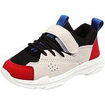 ZODOF Lindos Zapatos para niños Colores Mezclados Zapatillas Deportivas de Estilo Deportivo para Correr