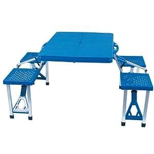 Ensemble table et chaises jardin pliant camping pique - Table exterieur pliable ...