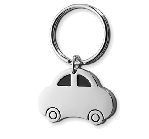 Preisvergleich Produktbild Silver Metal Keyring Stocking Filler Gift Schlüsselanhänger, 4 cm, Silber (Car)