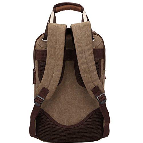 HAOYUXIANG Outdoor Sport Viaggi Casuale Uomini Moda Canvas Bag,Khaki Khaki