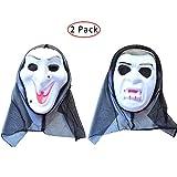 kungfu Mall 1 máscara de Bruja y 1 máscara de Vampiro para Disfraz de...
