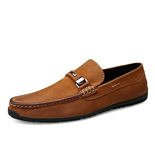 GPF-fei Herrenschuh Loafers Schuhe Boot Schuh-Boot Runde Schuh Schuh Schuh Schuh,Brown,44 -