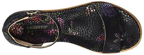 Neosens S941 Fantasy Floral Black Aurora, Sandales à Bride à la Cheville Femme Noir (Floral Black)