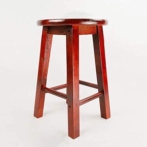 XMUEI Massivholzhocker Hochhocker Tritthocker Heimhocker Holzbank Barhocker Barhocker Hochholzbank Hochbank Holz 30 × 2 × 45cm (Color : Brown Red)
